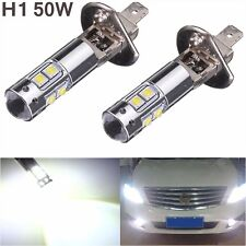 2PCS H1 50W CREE High Power LED Fog Light Driving Lamps Projector DRL Headlights