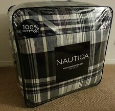 4PC NAUTICA LYNN HAVEN NAVY KING COMFORTER BEDSKIRT SHAMS SET - BRAND NEW