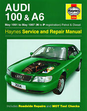 HAYNES AUDI 100 & A6 MAY 1991-MAY 1997 H TO P REGISTRATION PETROL AND DIESEL