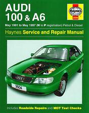 Haynes Audi 100 & A6 mayo 1991-may 1997 H a p de registro de la gasolina y diesel