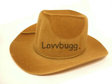"Brown Cowboy Hat for 18"" American Girl & Bitty Baby Doll  Widest Selection!"