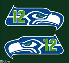 Seattle Seahawks 3 color Decals Left and Right PAIR