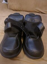 New Balance Womens size 7 stabilty walker black leather velcro no insoles
