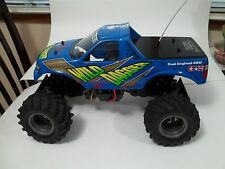 Vintage TAMIYA Wild Dagger 1/10 RC Monster Truck twin motor 4wheel dr Race truck
