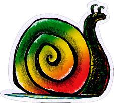 Rasta Snail - Small Reggae Bumper Sticker / Decal