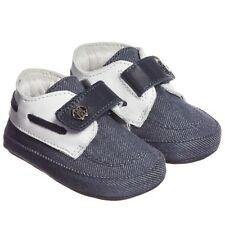 ROBERTO CAVALLI BABY BLUE DENIM PRE-WALKER SHOES 6-9 MONTHS