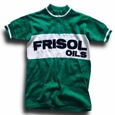 NOS VINTAGE PONY FRISOL OILS KIDS EROICA RETRO CYCLING JERSEY TOP (LABEL: 3)