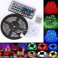 5m RGB LED Stripe Leiste Streifen Band Lichter SMD Leuchten Lichterkette 3528 US