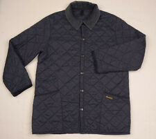 BARBOUR Liddesdale Mens Quilted Jacket L coat Heritage Made in England Navy £150