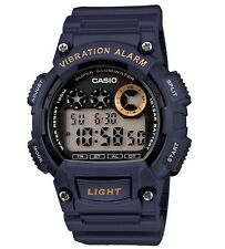 Casio Classic Watch * W735H-2AV Digital Vibration Alarm Navy Blue COD PayPal