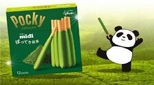 Glico POCKY Midi GREAN TEA (Matcha) Whip Chocolate Stick Biscuit from Japan