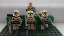 Star Clone Wars Clone Commander Troopers 4 Mini Figures free Lego Guns Uk Stock