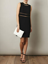 Alexander Wang Black Fish Wire Detail Dress   (Size 8)