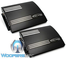 PAIR ARC AUDIO FD2200 2 CHANNEL 370 WATT RMS AMPS X2 = 740W RMS 4 CH AMPLIFIER