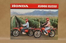 Vintage 1980 Honda XL100 S XL125 S Brochure Specifications