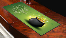 HAPPY ST PATRICK'S DAY POT OF GOLD DESIGN BAR RUNNER PUB IRELAND L& PRINTS
