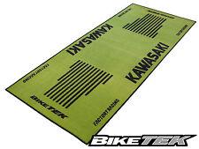 KAWASAKI ZXR ZZR ER-6 KX MOTORCYCLE GARAGE MAT WORKSHOP NON-SLIP BACKING PIT MAT