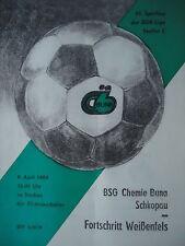Programma 1983/84 BSG Chemie Buna Schkopau-progresso ROCCIA BIANCA