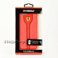 Ferrari Signature PU Leather Hard Case Snap Cover for iPhone 6 & iPhone 6s Red