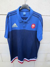 Polo rugby QUINZE DE FRANCE ADIDAS All Bleus shirt collection manches courtes XL