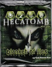 HECATOMB TRADING CARD GAME BLANKET OF LIES BOOSTER PACK *CCG*