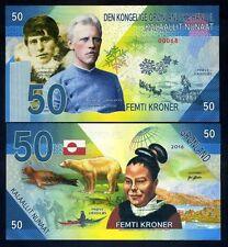 Greenland, 50 Kroner, 2016, Private Issue Kamberra, UNC   Rusmussen, Amundsen