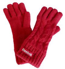 Reebok logo CAB Glove Donna Sport Invernali Guanti ROSA NUOVO TG S