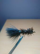 4 Black Fritz Trout Lure Fly Fishing Trout Flies
