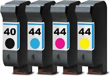 4x DRUCKER PATRONEN für HP40 HP44 Designjet 350C PLUS 450C 455CA 488CA TINTE