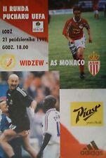 Programm UEFA Cup 1999/00 Widzew Lodz - AS Monaco