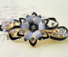 60MM crystal resin Flower hair barrette clip Hairpin  SF320