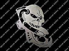Motorcycle Engine Skull Chopper Bobber Motor Bike Cafe Racer Metal Wall Art