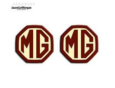 MG MGF MG ZS ZR MK1 Badges Front Grill Rear Boot Badge Inserts 59mm OEM Burgundy