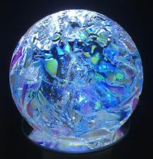 Glass Eye Studio 3 inch Environmental Series Ice Storm Paperweight 585