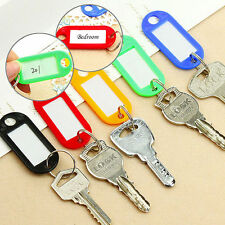 10PCS Colorful Key ID Labels Name Tags Split Ring Car Door Keyring Keychain W87