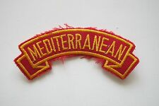 #6707 MEDITERRANEAN Word Tag Embroidery Sew On Applique Patch