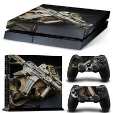 SKIN PS4 + MANETTES PROTECTION DECOR ARMY GUN AUTOCOLLANT STICKER PS020