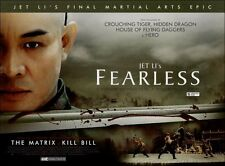 2x Fearless - Jet Li - Original UK Mini Quad Posters
