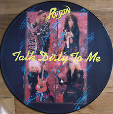 "POISON TALK DIRTY TO ME 12"" VINYL PICTURE PIC DISC (MFN P 12 KUT 125)"