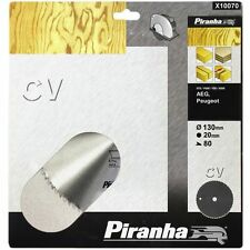 PIRANHA X10070  130MM CROSS CUT CIRCULAR SAW BLADE 130 x 20  80T