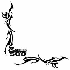 """R500 SCANIA  """"R"""" SERIES TRIBAL Side Window Stickers x 2"""