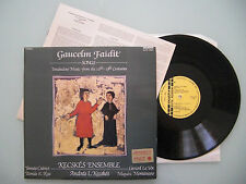 Gaucelm Faidit -  Songs. Troubadour Music From The 12th-13th Centuries,  m-