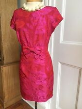 FAB DESIGNER HELENE BERMAN LADY'S HOT PINK ROSE COCKTAIL CHRISTMAS DRESS SIZE 12