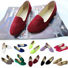 New Womens Ballerina Ballet Dolly Pumps Ladies Flat Loafers Shoes Size AU 4-7