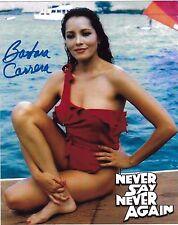Barbara Carrera Signed 8x10 Photo - James Bond Babe - NEVER SAY NEVER AGAIN H128