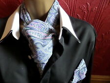 MENS CRAVAT/SCARF AND MATCHING HANKERCHIEF [choice of design-inc gothic]
