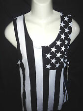 MENS BROOKLYN CLOTH AMERICAN FLAG TANK TOP T-SHIRT SIZE L