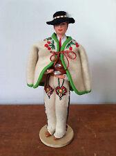 """Vtg SPOLDZIELNIA PRACY RLIA Handmade 8"""" Male Doll - Poland Ethnic Costume"""