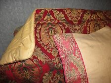 CROSCILL IMPERIAL GOLD RED MEDALLION (2PC) KING PILLOW SHAM AND PILLOWCASE