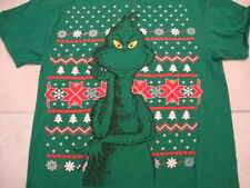 Dr. Seuss's How The Grinch Stole Christmas Book Christmas Green T Shirt Size L